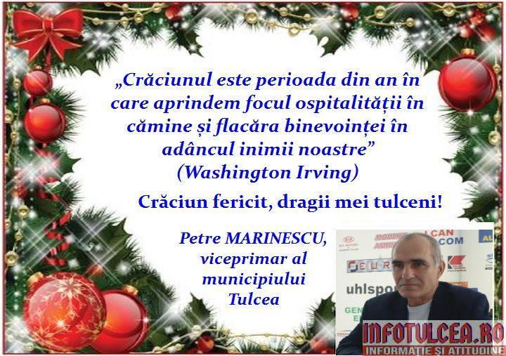Photo of Mesajul de Crăciun al viceprimarului municipiului Tulcea, Petre MARINESCU