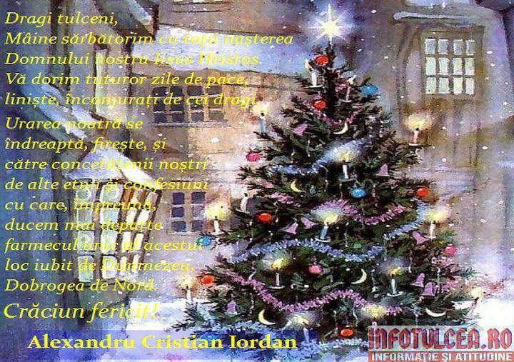 Photo of Mesajul de Crăciun al prefectului județului Tulcea, Alexandru Cristian IORDAN