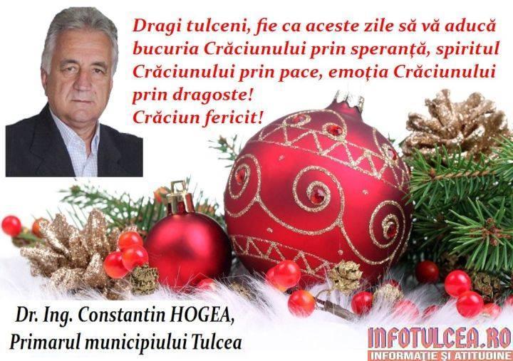 Photo of Mesajul de Crăciun al primarului municipiului Tulcea, Constantin HOGEA